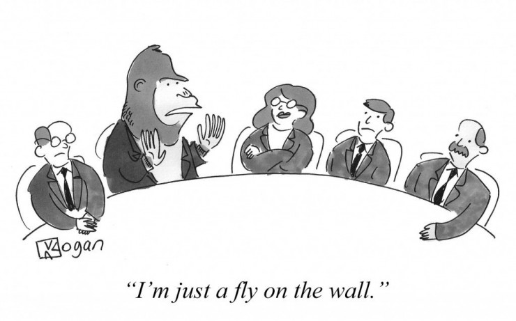 I'm just a fly on the wall.