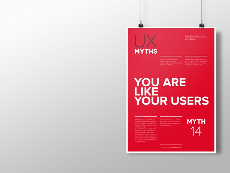 Best christmas gifts for UX Designers: UX myth posters