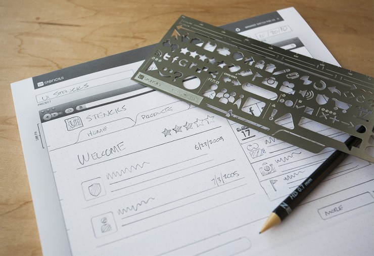 Best gifts for UX designers: UI stencil kit