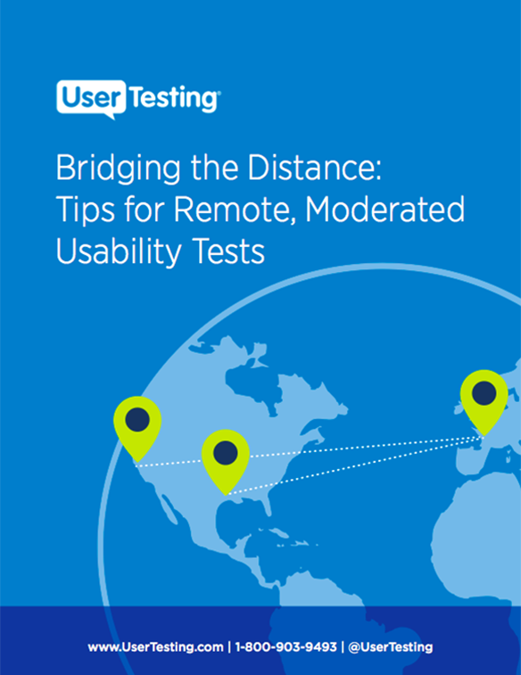 Free ebook: Bridging the Distance: Tips for Remote, Moderated Usability Tests
