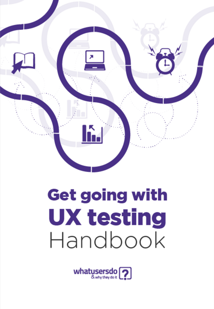 Free ebook: Get Going With UX Testing Handbook