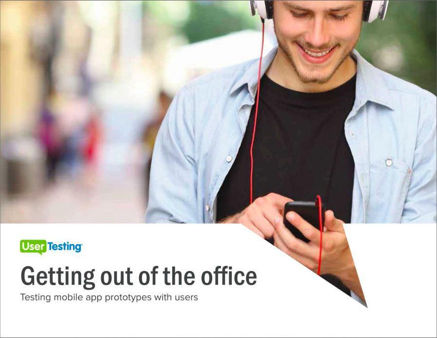 Free ebook: Getting Out of the Office: Testing Mobile App Prototypes With Users