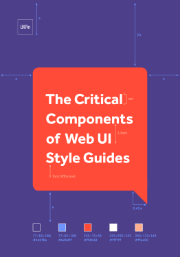 Free ebook: The Critical Components of Web UI Style Guides