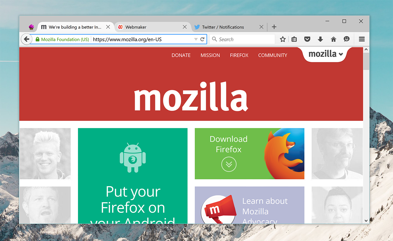 Firefox on Windows 10
