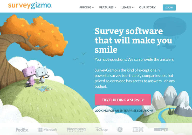 Survey Gizmo - Survey Software to get Customer Feedback on Your Website