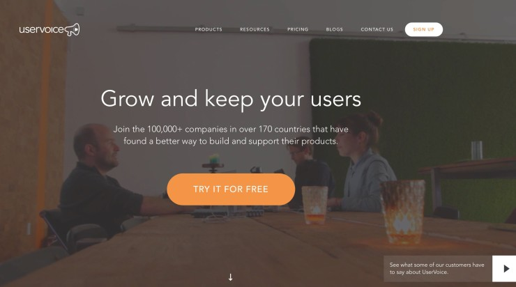 UserVoice - Tool to Collect and Track Customer Feedback on Your Website