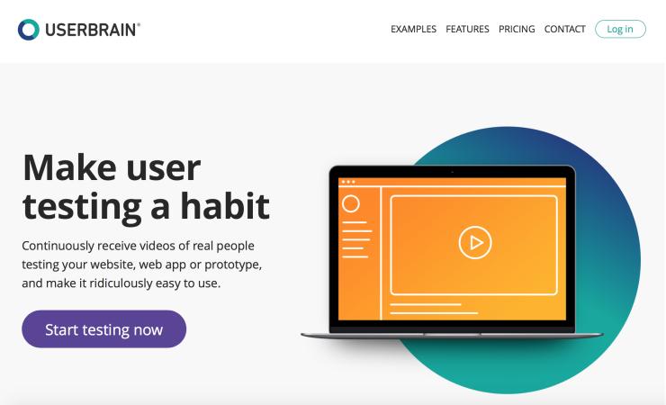 Screenshot of the Userbrain Website