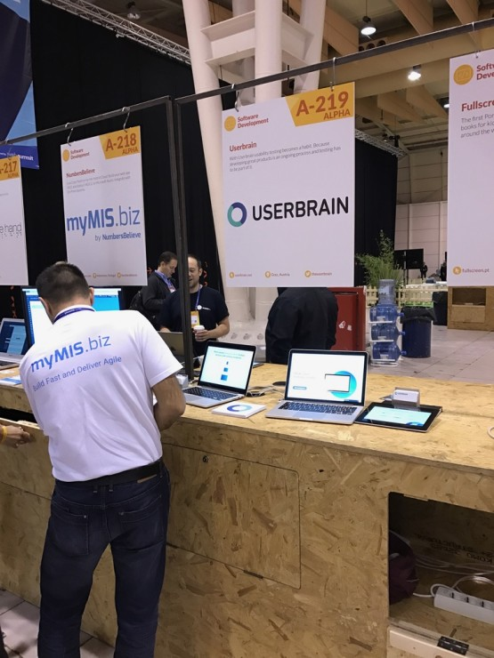 Userbrain booth at WebSummit 2016 in Lisbon