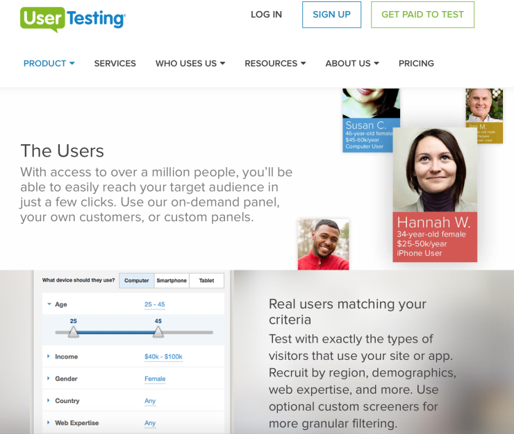 Demographic Targeting with UserTesting.com