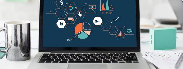 laptop, UX design myths and mug