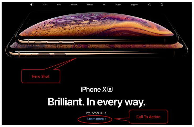 first impression on apple website