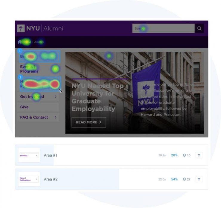 UsabilityHub Heatmap Interface